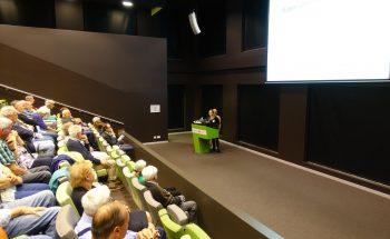 Odette Koekenberg van Vivent gaf presentatie op Regionale Longfibrose dag